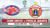 Jadwal Piala AFC, Home United Vs Persija Jakarta. (Bola.com/Dody Iryawan)