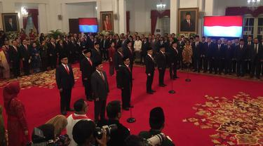 Presiden Joko Widodo atau Jokowi melantik wakil menteri Kabinet Indonesia Maju.