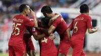 Timnas Indonesia melawan Thailand di Stadion Rajamangala, Bangkok, pada laga penyisihan Grup B Piala AFF 2018, Sabtu (17/11/2018). (Bola.com/Muhammad Iqbal Ichsan)
