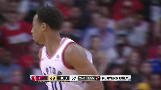 Toronto Raptors mengalahkan Houston Rockets dengan skor 129-113 dalam lanjutan pertandingan NBA 2017-2018.
