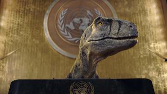 Ada Penampakan Dinosaurus di Markas PBB