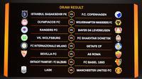 Hasil drawing babak 16 besar Liga Europa 2019/2020 mempertemukan Sevilla dan AS Roma (FABRICE COFFRINI / AFP)