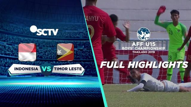 Berita video highlight Piala AFF U-15 2019 antara Timnas Indonesia U-15 melawan Timor Leste U-15, Rabu (31/7/2019).
