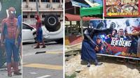Aksi heroik pria yang gunakan kostum Spider Man selamatkan korban kecelakaan mobil (Sumber: World of Buzz)