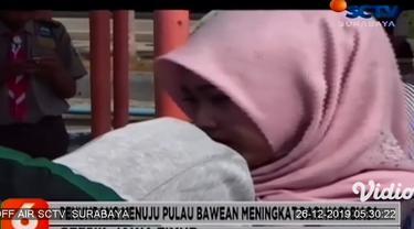 Memasuki libur Nataru ratusan penumpang tujuan Pulau Bawean, di Pelabuhan Gresik, Jawa Timur mulai ramai. Ratusan penumpang memadati areal terminal pelabuhan, untuk bisa pulang ke Pulau Bawean merayakan libur panjang Nataru di kampung halamannya.