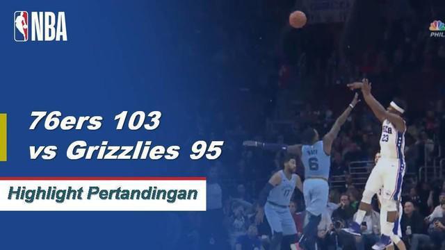 JJ Redick memimpin semua penilaian dengan 24 poin saat 76ers menang atas Grizzlies, 103-95.