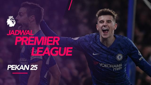 Berita video jadwal Premier League 2019-2020 pekan ke-25. Chelsea hadapi Leicester City di King Power Stadium, Leicester, Sabtu (1/2/2020).