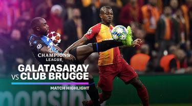 Berita Video Highlights Liga Champions, Galatasaray vs Club Brugge 1-1