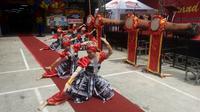 Pencak silat Bandrong, salah satu seni bela diri asli Banten yang lahir di tahun 1525 Masehi. (Liputan6.com/Yandhi Deslatama)