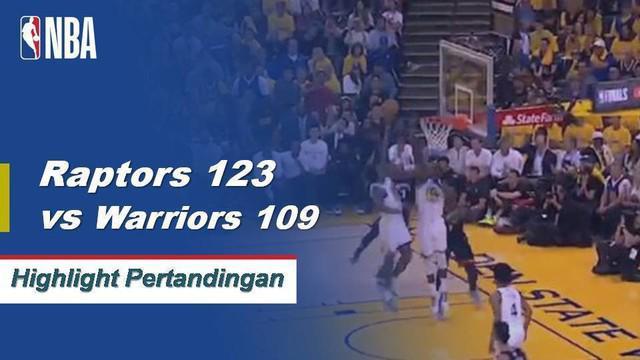 Kawhi Leonard mencetak 30 poin dan Kyle Lowry menambahkan 23 poin dalam kemenangan Raptors atas Warriors di Game 3 Finals.