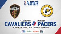NBA Playoff 2018 Cleveland Cavaliers Vs Indiana Pacers Game 5 (Bola.com/Adreanus Titus)