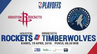 NBA Playoff 2018 Houston Rockets Vs Minnesota Timberwolves Game 2 (Bola.com/Adreanus Titus)