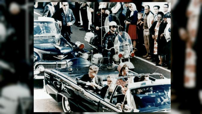 Pembunuhan John F. Kennedy. (Sumber Wikimedia/Dallas Morning News/Walt Cisco untuk ranah publik)