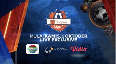 Berita video Shopee Liga 1 2020 akan bergulir kembali dan kalian bisa menyaksikannya dari rumah saja hanya di Indosiar, O Channel, dan Vidio.