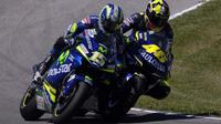 Valentino Rossi dan Sete Gibernau. (Fox)