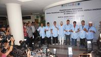 Empat bakal pasangan calon Pilkada Jabar menjalani tes kesehatan. (Liputan6.com/Huyogo Simbolon)