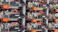 Proyek Hama Wing memanfaatkan baterai bekas mobil hybrid Toyota. (Foto: Sigit TS)