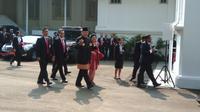Presiden ke-6 RI Susilo Bambang Yudhoyono atau SBY menghadiri upacara HUT ke-72 RI di Istana (Liputan6.com/ Ahmad Romadoni)