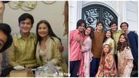 Pakai baju senada saat Lebaran, Prilly dan Irzan Faiq digosipkan pacaran. (Sumber: Instagram/@prilly_irzan/@ajil_ditto08)