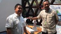 Acara peluncuran proyektor laser LightScience di kawasan Jakarta, Selasa (31/7/2018). Liputan6.com/ Andina Librianty