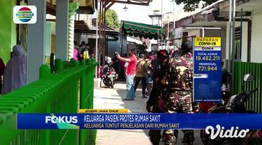 Salah satu rumah sakit swasta di Jalan Jayanegara, Kecamatan Kaliwates, Jember, Jawa Timur, Jumat siang didatangi puluhan orang. Massa yang datang merupakan kerabat dan keluarga salah satu pasien yang meninggal pada 2 Agustus lalu, dengan status posi...