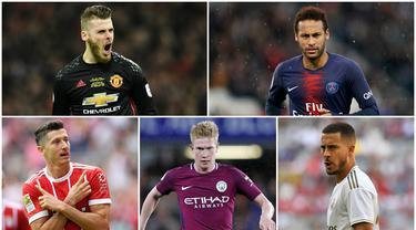 Berikut ini  para pemain bintang yang kemungkinan mendapatkan rating tinggi di FIFA 20. Diantaranya, Kylian Mbappe, Eden Hazard dan Robert Lewandowski. (Foto Kolase AP dan AFP)