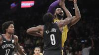 LeBron James gagal bawa LA Lakers kalahkan Brooklyn Nets di lanjutan NBA    (AP Photo/Frank Franklin II)