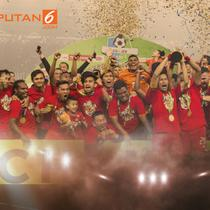 Banner Persija Juara (Liputan6.com/Triyasni)