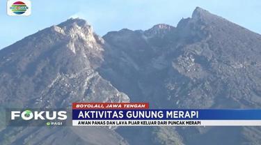 Gunung Merapi kembali keluarkan awan panas dan lava pijar dengan jarak luncur 300 sampai 600 meter.
