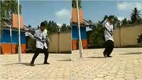 cover dance guru (Sumber: Twitter/Recehin_Aja)
