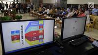 Suasana pelaporan SPT Tahunan Pribadi di lingkungan Setjen DPR di Nusantara III, Komplek Parlemen, Senayan, Jakarta, Kamis (8/3). Hal ini sebagai bentuk kepatuhan hukum dan keteladanan kepada publik. (Liputan6.com/Johan Tallo)