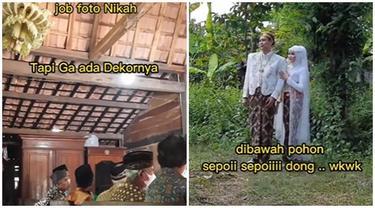 Viral Pasangan Menikah dan Foto Tanpa Dekorasi, Banjir Pujian Netizen