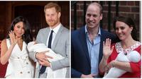 Penampilan Meghan Markle dan Kate Middleton usai melahirkan buah hati. (Dominic Lipinski / POOL / AFP, Daniel LEAL-OLIVAS / AFP)