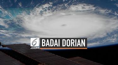 NASA merilis foto dramatis penampakan foto badai Dorian di atas Samudera Atlantik. Badai Dorian masuk kategori berbahaya dan bisa menyebabkan kerusakan daerah yang diterjangnya.