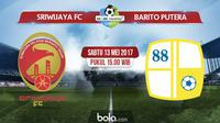 Liga 1_Sriwijaya FC Vs Barito Putera (Bola.com/Adreanus Titus)