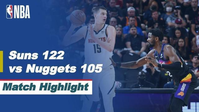 Berita video highlights kemenangan Phoenix Suns atas Denver Nuggets pada gim 1 semifinal wilayah barat NBA Playoffs 2021, Selasa (8/6/2021) pagi hari WIB.