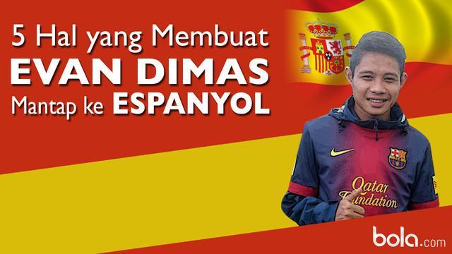 Video motion grafis menerangkan 5 hal yang membuat Evan Dimas mantap menjalani program di Espanyol B dan berangkat ke Spanyol pada 1 februari 2016 mendatang.