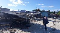 Ratusan rumah warga rusak dan rata dengan tanah pasca gempa Maluku. (Liputan6.com/Hairil Hiar)