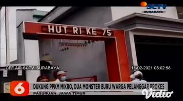 Masuk zona merah, empat desa di tiga Kecamatan di Sidoarjo, Jawa Timur, mulai memberlakukan Pembatasan Kegiatan Masyarakat mikro atau PPKM mikro. Warga diwajibkan membawa surat jalan saat beraktivitas di luar desa.