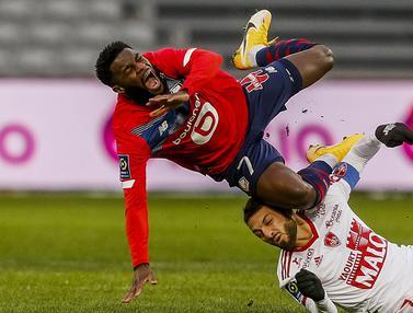 FOTO: Ditahan Imbang 0-0 Brest, Lille Gagal Perlebar Jarak dengan PSG