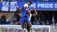 Aksi Tammy Abraham saat Chelsea melawan Newcastle (AFP)