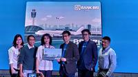 Launching Top Up BRIZZI di Traveloka, di Gedung BRI 1, Jakarta, Senin (07/10/2019).