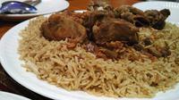 Nasi Kebuli, salah satu hidangan khas timur tengah yang dapat ditemukan di Jakarta.