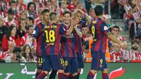 Barcelona cetak gol ke gawang Bilbao di final Copa del Rey