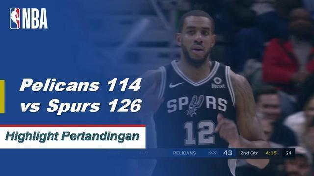 LaMarcus Aldridge skor 28 poin dengan 12 rebound, Rudy Gay menambahkan 22 dengan 11 papan saat Spurs menang, 126-114.