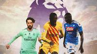Premier League - Isco, Ousmane Dembele, Kalidou Koulibaly (Bola.com/Adreanus Titus)