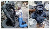 Patung dari ban  (Sumber: Facebook/@Nkwocha Ernest )