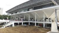 Suasana Istora Senayan, Selasa (23/1/2018). Setelah direnovasi Istora kini berkapasitas 7.120 penonton dan memiliki kursi dan pencahayaan yang lebih baik. (Bola.com/M Iqbal Ichsan)