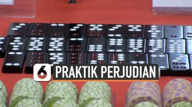 Polisi menangkap 133 orang terkait praktik perjudian di Apartemen Robinson, Penjaringan, Jakarta Utara.