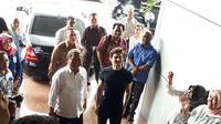 CEO Telegram, Pavel Durov tiba di kantor Kemkominfo dan disambut oleh Menkominfo, Rudiantara, Jakarta, Selasa (1/8/2017). (Liputan6.com/Agustinus M Damar)